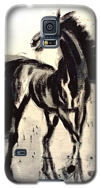 Galaxy S5 Case featuring the painting Andalusian Colt by Jarmo Korhonen aka Jarko