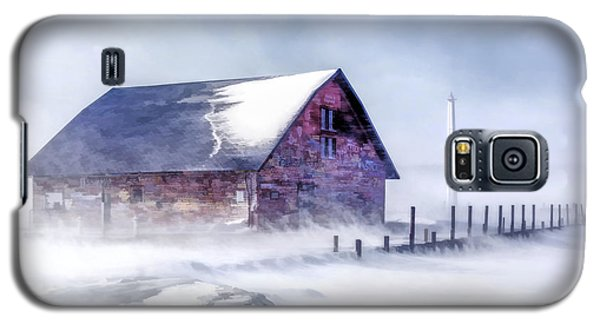 Galaxy S5 Case featuring the painting Anderson Dock Winter Storm by Christopher Arndt