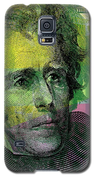 Galaxy S5 Case featuring the digital art Andrew Jackson - $20 Bill by Jean luc Comperat