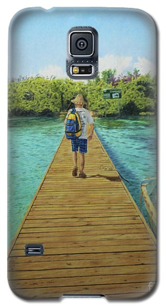 Galaxy S5 Case featuring the painting Andrew by Jennifer Watson