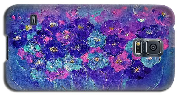 Galaxy S5 Case featuring the painting Anemone by AmaS Art