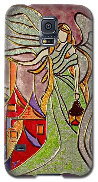 Galaxy S5 Case featuring the painting Angel  by AmaS Art