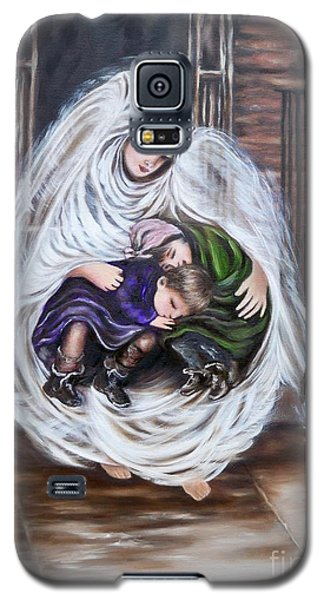 Galaxy S5 Case featuring the painting Angel And The Orphans by Sigrid Tune