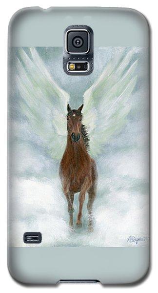 Angel Horse Running Free Across The Heavens Galaxy S5 Case
