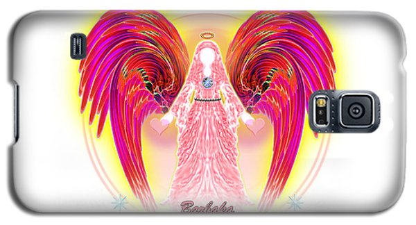 Galaxy S5 Case featuring the digital art Angel Intentions Divine Timing by Barbara Tristan