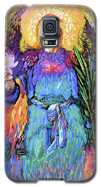 Lily Galaxy S5 Case - Angel Love by Jane Small