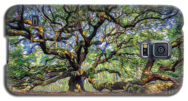 Angel Oak In Digital Oils Galaxy S5 Case