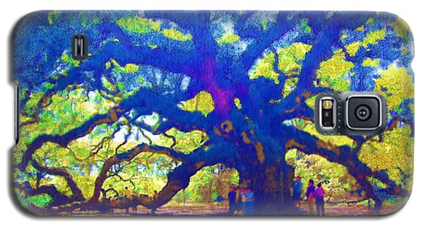 Galaxy S5 Case featuring the photograph Angel Oak Tree by Donna Bentley