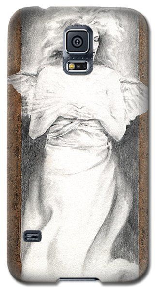 Galaxy S5 Case featuring the painting Angel Of Light by Ragen Mendenhall