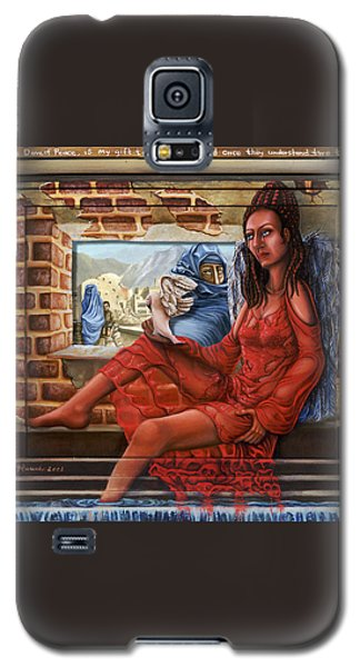 Galaxy S5 Case featuring the painting Angel Of Peace by Karen Musick
