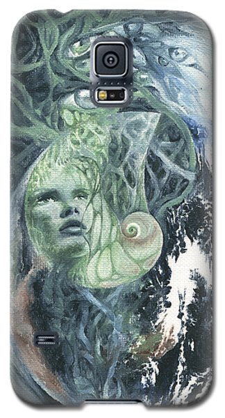 Galaxy S5 Case featuring the painting Angel Of Peace by Ragen Mendenhall