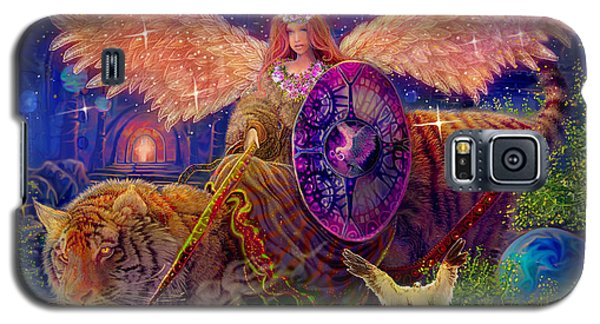 Galaxy S5 Case featuring the painting Angel Tarot Card Angel Fairy Dream by Steve Roberts