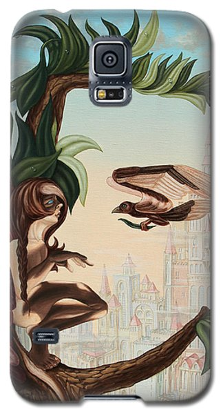 Angel, Watching The Reincarnation Of Marilyn Monroe On The Swinging City Towers Galaxy S5 Case