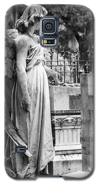 Angel With Cross Of Bonaventure Cemetery Galaxy S5 Case by Steven Bateson
