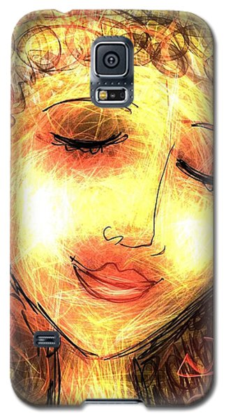 Galaxy S5 Case featuring the digital art Angela by Elaine Lanoue