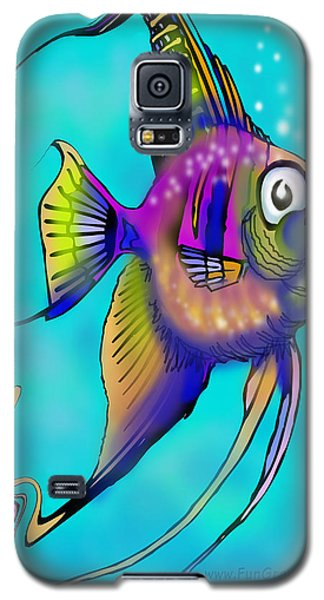 Galaxy S5 Case featuring the painting Angelfish by Kevin Middleton