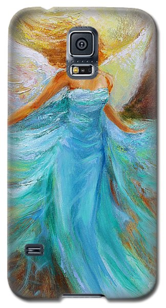 Galaxy S5 Case featuring the painting Angelic Rising by Jennifer Beaudet