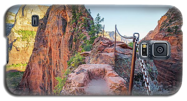 Angels Landing Hiking Trail Galaxy S5 Case by JR Photography