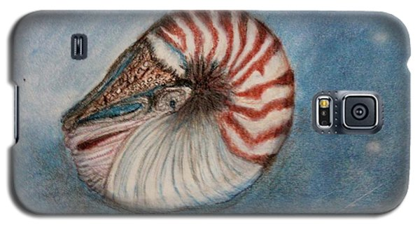 Galaxy S5 Case featuring the painting Angel's Seashell  by Kim Nelson