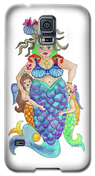 Galaxy S5 Case featuring the painting Angels Swim Among Us by Rosemary Aubut
