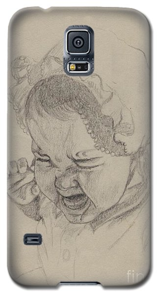 Galaxy S5 Case featuring the drawing Angry by Annemeet Hasidi- van der Leij