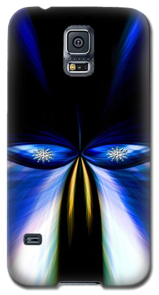 Angry Blue Bird Galaxy S5 Case by Cherie Duran
