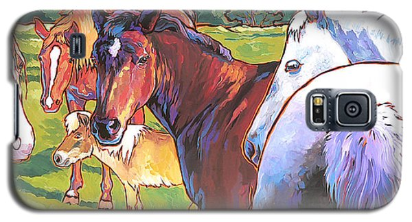 Galaxy S5 Case featuring the painting Anjelica Huston's Horses by Nadi Spencer