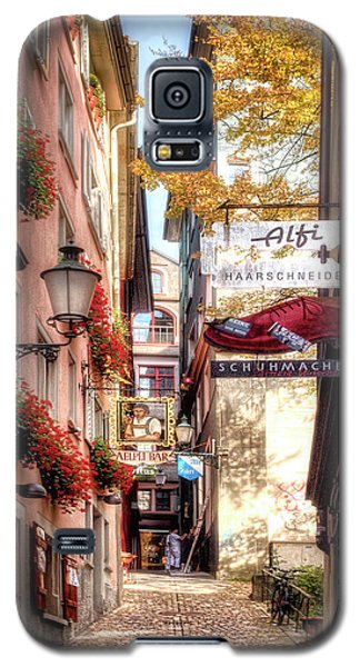 Galaxy S5 Case featuring the photograph Ankengasse Street Zurich by Jim Hill
