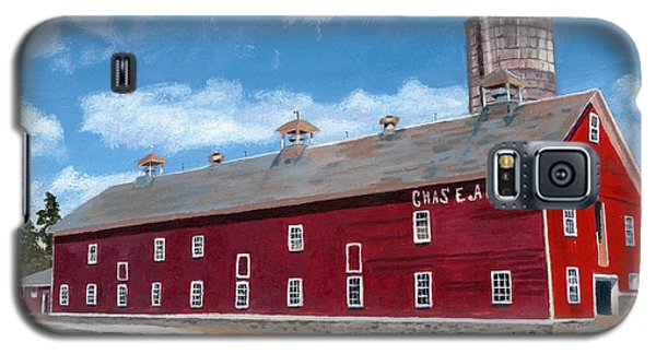 Galaxy S5 Case featuring the painting Anken's Barn by Lynne Reichhart