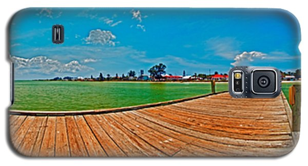 Anna Maria Island Seen From The Historic City Pier Panorama Galaxy S5 Case
