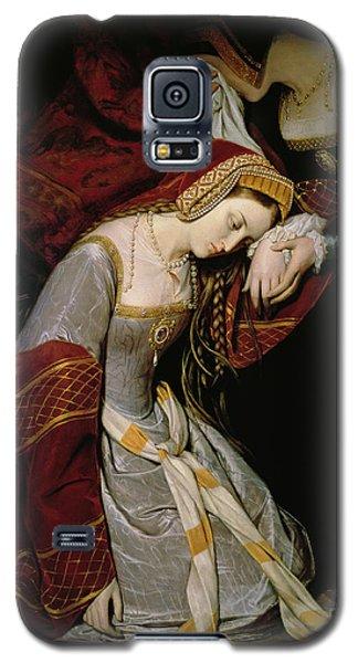 Anne Boleyn In The Tower Galaxy S5 Case by Edouard Cibot