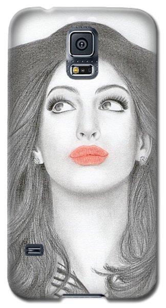 Anne Hathaway Galaxy S5 Case by Eliza Lo