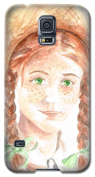 Galaxy S5 Case featuring the painting Anne Of Green Gables by Andrew Gillette
