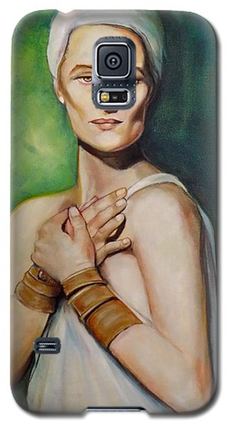 Galaxy S5 Case featuring the painting Annunciation by Irena Mohr