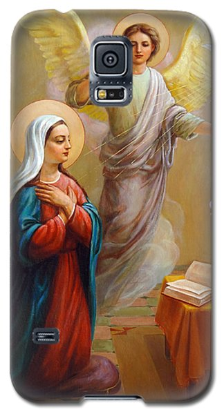 Galaxy S5 Case featuring the painting Annunciation To The Blessed Virgin Mary by Svitozar Nenyuk