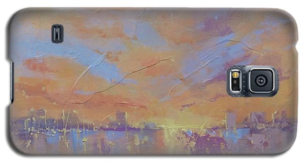 Galaxy S5 Case featuring the painting Another Dimension by Laura Lee Zanghetti