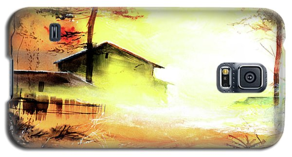 Galaxy S5 Case featuring the painting Another Good Morning by Anil Nene