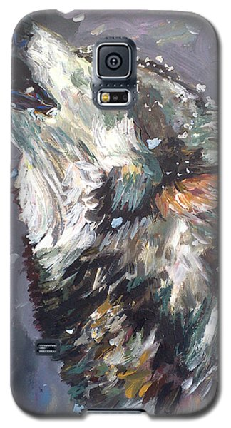 Galaxy S5 Case featuring the painting Another Night Alone by Koro Arandia
