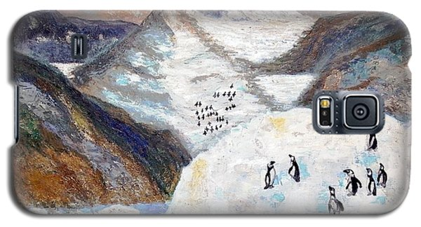 Galaxy S5 Case featuring the painting Antarctica1 by Vicky Tarcau