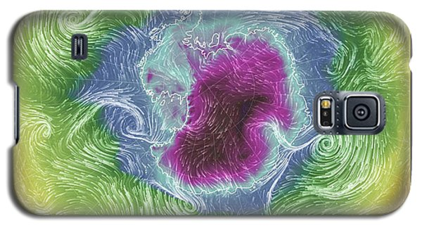 Galaxy S5 Case featuring the photograph Antartica Surface Winds And Temps by Geraldine Alexander