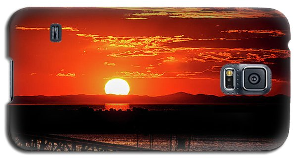 Antelope Island Marina Sunset Galaxy S5 Case