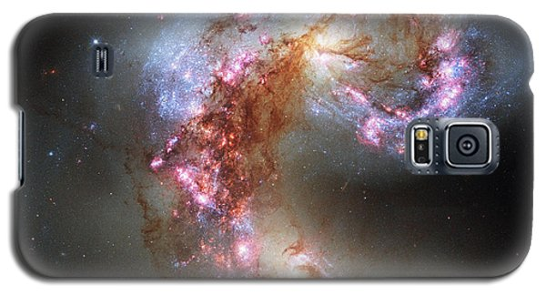 Galaxy S5 Case featuring the photograph Antennae Galaxies Reloaded by Nasa