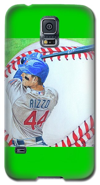 Galaxy S5 Case featuring the drawing Anthony Rizzo 2016 by Melissa Goodrich