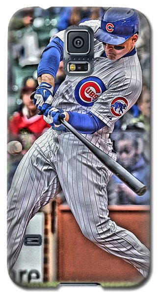 Anthony Rizzo Chicago Cubs Galaxy S5 Case by Joe Hamilton