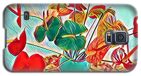 Anthurium Bouquet Of The Day - Multiple Color Galaxy S5 Case