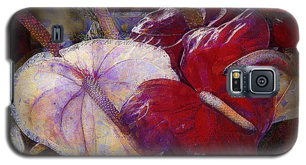 Galaxy S5 Case featuring the photograph Anthuriums For My Valentine by Lori Seaman