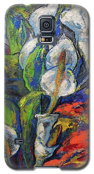 Galaxy S5 Case featuring the painting Anthuriums by Koro Arandia