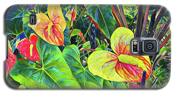 Anthuriums Yellow And Red Galaxy S5 Case