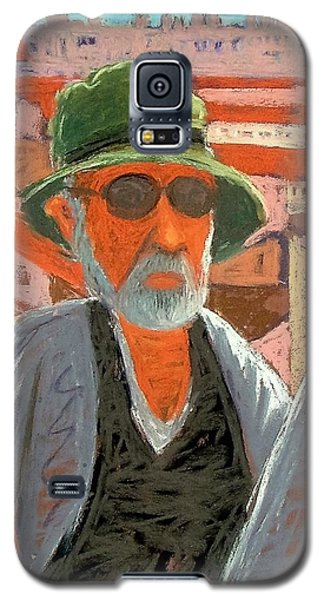 Galaxy S5 Case featuring the painting Antibes Self by Gary Coleman