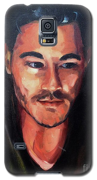 Galaxy S5 Case featuring the painting Anticipation by Diane Daigle